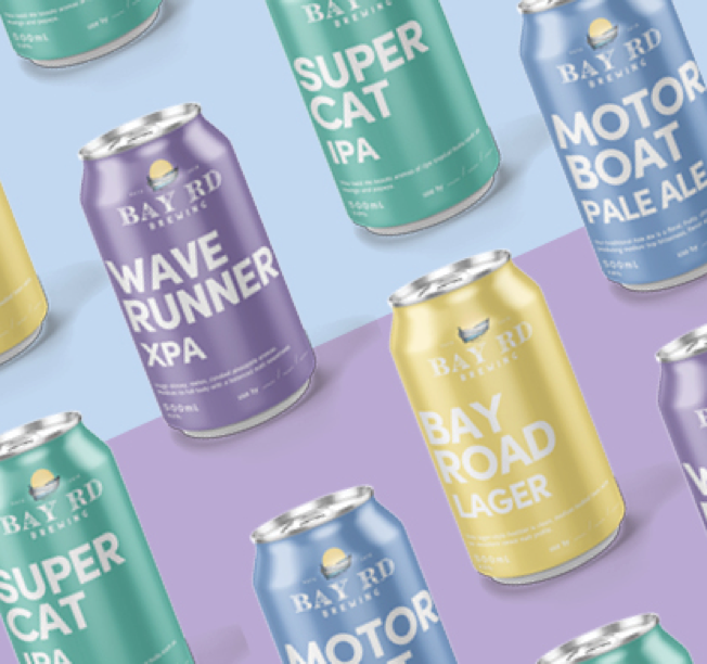 Sarrant Group beer cans design